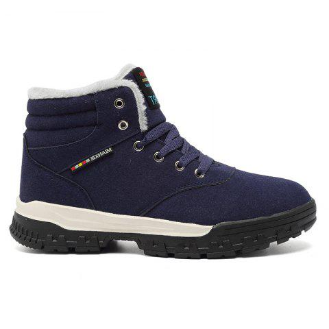 New High-Top Keep Warm Casual Cotton Boots - BLUE 42
