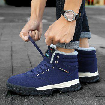 New High-Top Keep Warm Casual Cotton Boots - BLUE 40