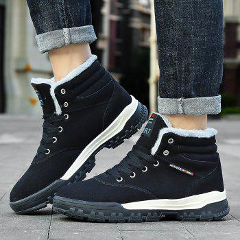 New High-Top Keep Warm Casual Cotton Boots - BLACK 43