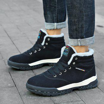 New High-Top Keep Warm Casual Cotton Boots - BLACK 42