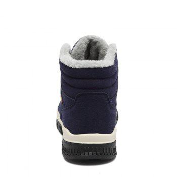 New High-Top Keep Warm Casual Cotton Boots - BLUE 43