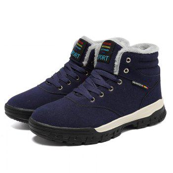New High-Top Keep Warm Casual Cotton Boots - BLUE 44