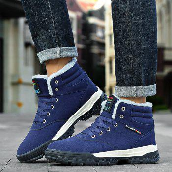 New High-Top Keep Warm Casual Cotton Boots - BLUE 41