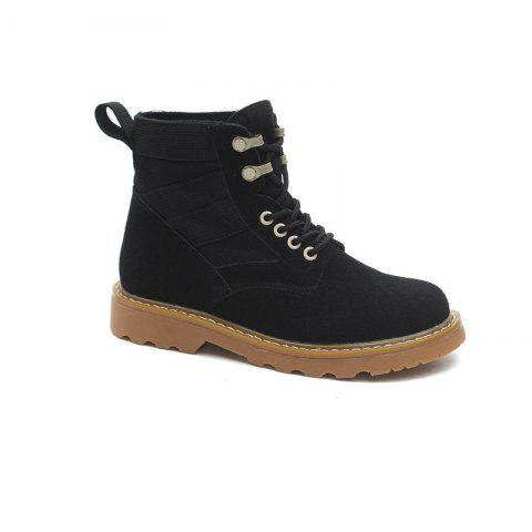 New Spring and Autumn High-Top Casual Cotton Boots - BLACK 36