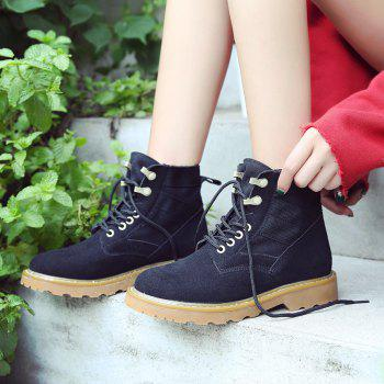 New Spring and Autumn High-Top Casual Cotton Boots - BLACK 39