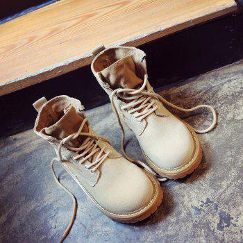 New Spring and Autumn High-Top Casual Cotton Boots - KHAKI 38