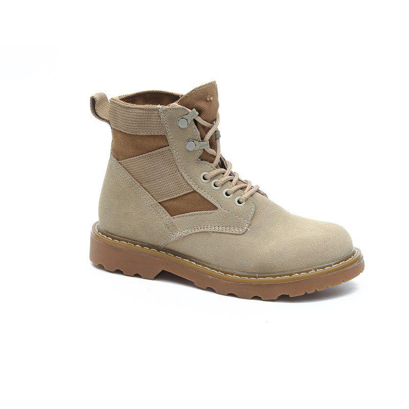 New Spring and Autumn High-Top Casual Cotton Boots - KHAKI 35