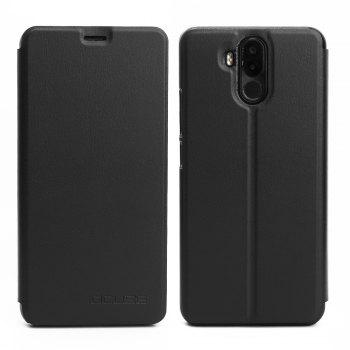 OCUBE Flip Folio Stand Up Holder PU Leather Case Cover for Ulefone Power 3 Cellphone - BLACK BLACK