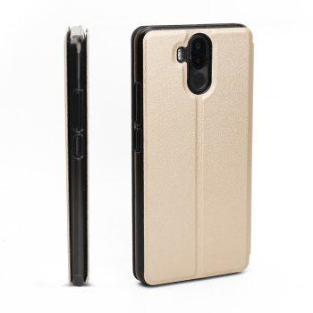 OCUBE Flip Folio Stand Up Holder PU Leather Case Cover for Ulefone Power 3 Cellphone - GOLDEN
