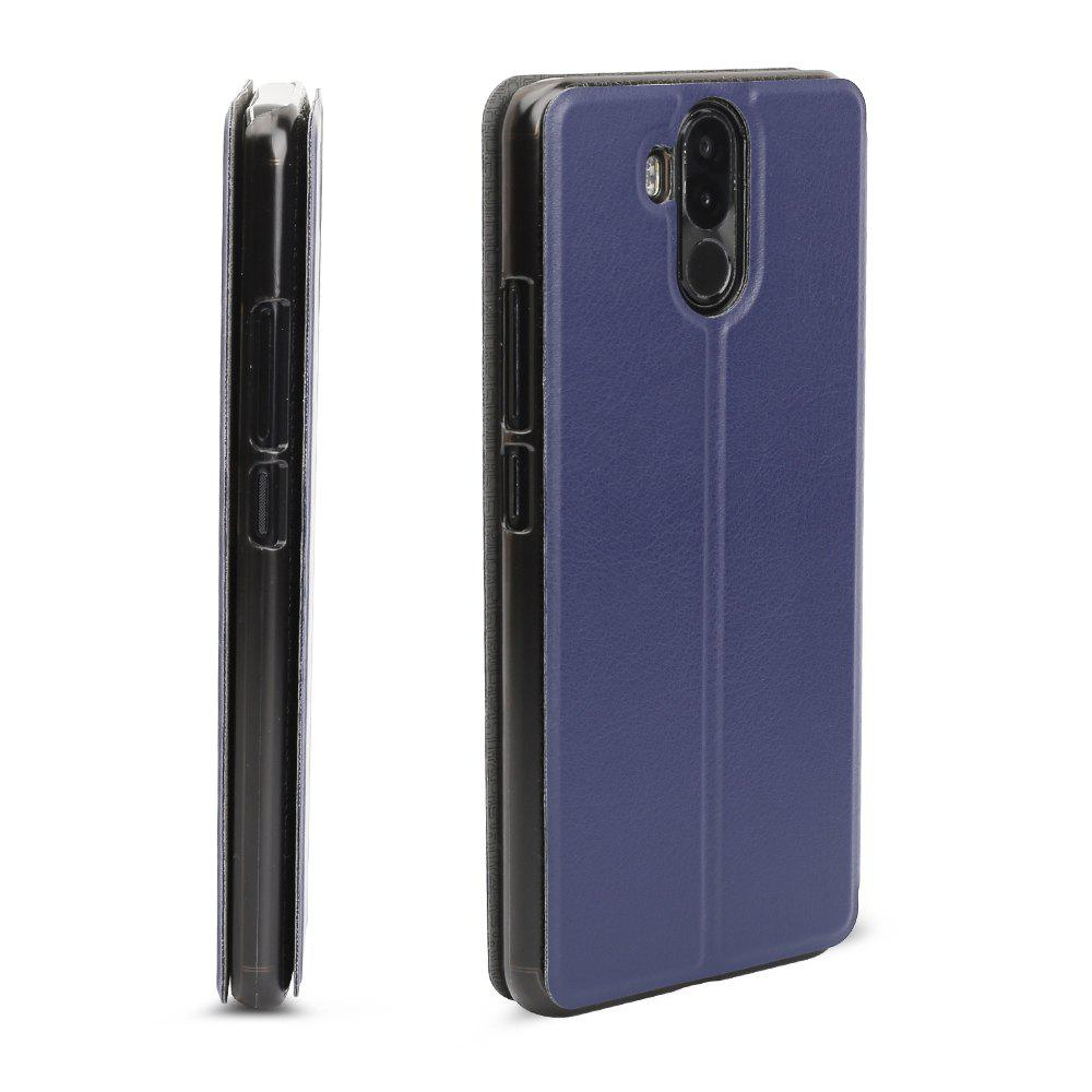 OCUBE Flip Folio Stand Up Holder PU Leather Case Cover for Ulefone Power 3 Cellphone - BLUE