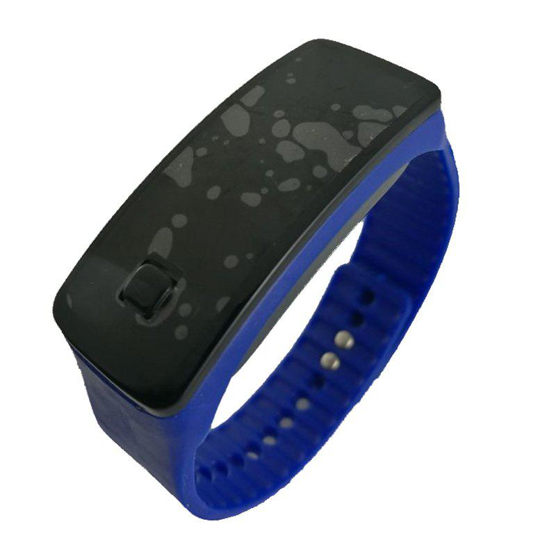 Square Dial LED Bracelet Digital Sports Watches For Men Ladies Child Clock Womens Wrist Watch Wristwatch - BLUE
