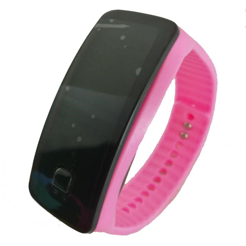 Square Dial LED Bracelet Digital Sports Watches For Men Ladies Child Clock Womens Wrist Watch Wristwatch - PINK