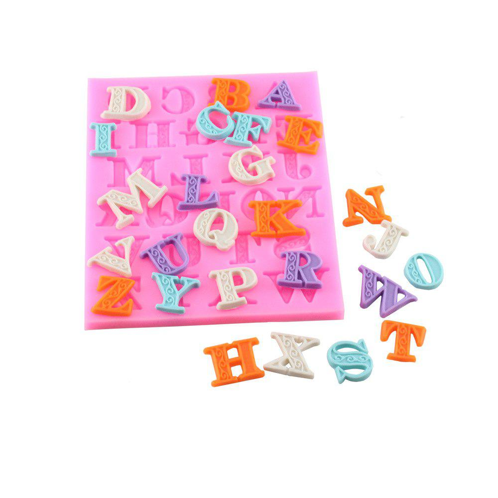 Letters Frosting Silicone Dry Pace Mold - PINK