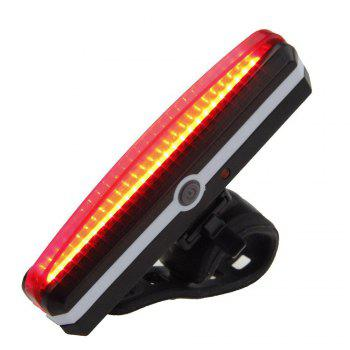 Cycling Light 4 Model LED 200 Lumen USB Rechargeable Safety Flashlight Lamp Lights Waterproof Taillight Bicycle Accessor - BLACK