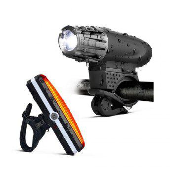 Cycling Light 4 Model LED 200 Lumen USB Rechargeable Safety Flashlight Lamp Lights Waterproof Taillight Bicycle Accessor - BLACK BLACK