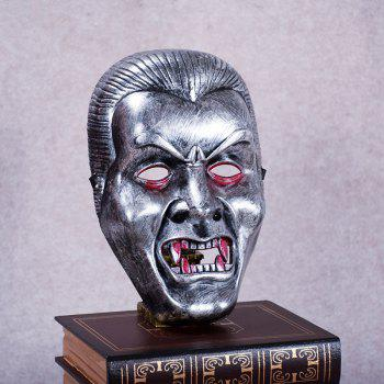 Vampire Face Mask Big Devil Shape Gray Plastic Masks Halloween Intimidation Dracula Party Decorating - SILVER GRAY SILVER GRAY