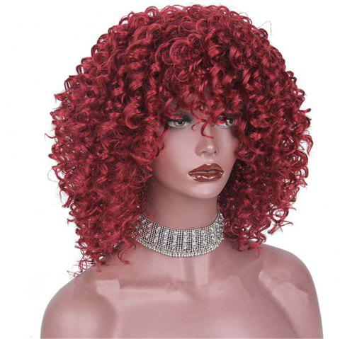 CHICSHE High Temperature Fiber Mixed Brown Blonde Color Synthetic Short Hair Afro Kinky Curly Wigs - 2
