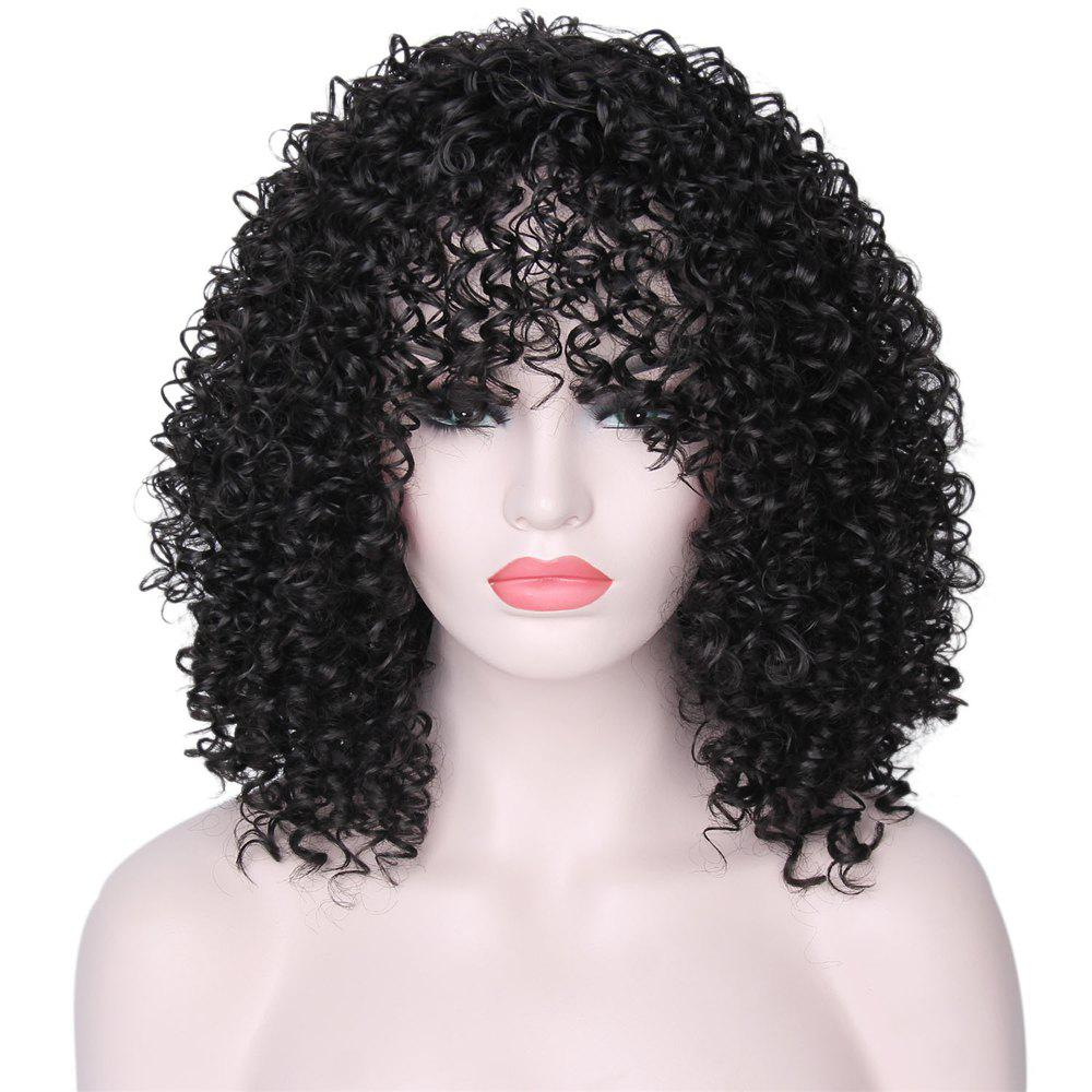 CHICSHE Synthetic Afro Kinky Curly Wigs for Black Women African American Heat Resistant Long Hair -