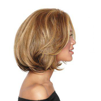Ladies Short Fluffy Curly Wigs - BROWN