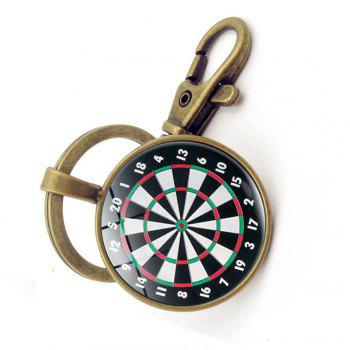 Dart Target Pendant Key Chain - COPPER COLOR