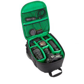 Camera Backpack Bag for DSLR Camera  Lens and Accessories - GREEN GREEN