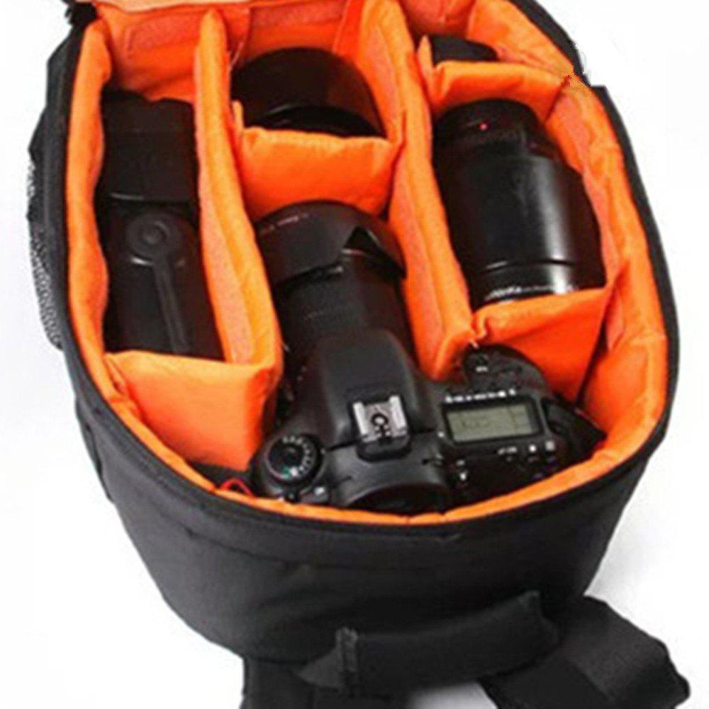Camera Backpack Bag for DSLR Camera  Lens and Accessories - YELLOW
