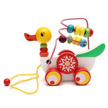 Animal Duckling Trailer Beads Toy - COLOUR COLOUR