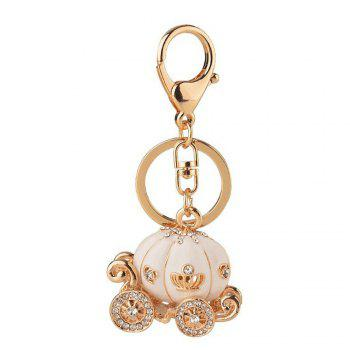 Pumpkin Car Male and Female Key Chain - WHITE WHITE