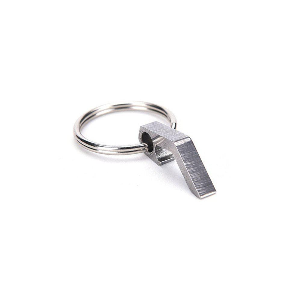 Can Opener Stainless Steel Multi-Function Key Ring - SILVER