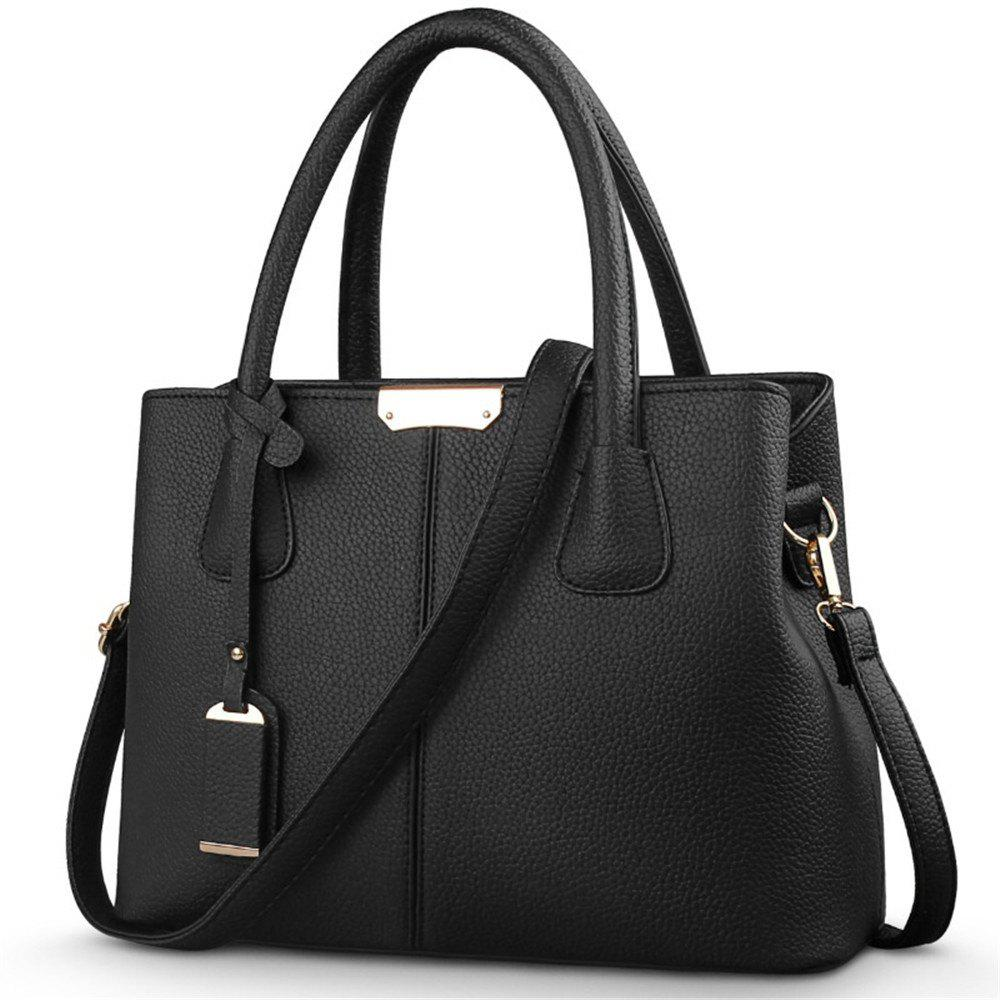 New European and American Handbags - BLACK