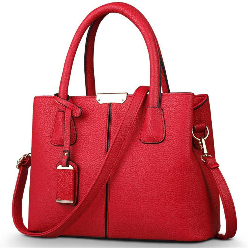 New European and American Handbags - RED