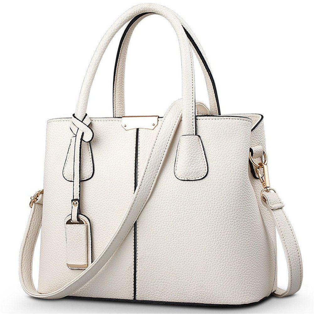 New European and American Handbags - OFF WHITE