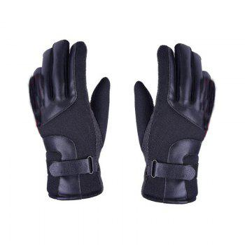Autumn and Winter Ski Warm Cashmere Thickened Outdoor Cycling Gloves for Men and Women To Prevent Cold Wind - BLACK