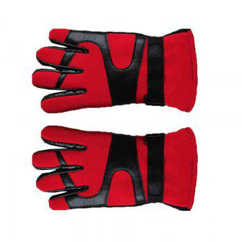 Autumn and Winter Ski Warm Cashmere Thickened Outdoor Cycling Gloves for Men and Women To Prevent Cold Wind - RED RED