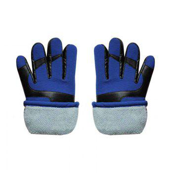 Autumn and Winter Ski Warm Cashmere Thickened Outdoor Cycling Gloves for Men and Women To Prevent Cold Wind - BLUE BLUE
