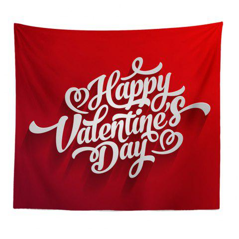 Hand-Made Hd Digital Printing Wall Decoration Tapestry Valentine'S Day Decoration - DEEP RED 150X130CM