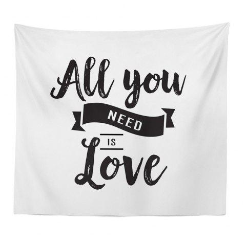 Hand-Made Hd Digital Printing Wall Decoration Tapestry Valentine'S Day Decoration - BLACK WHITE 150X100CM