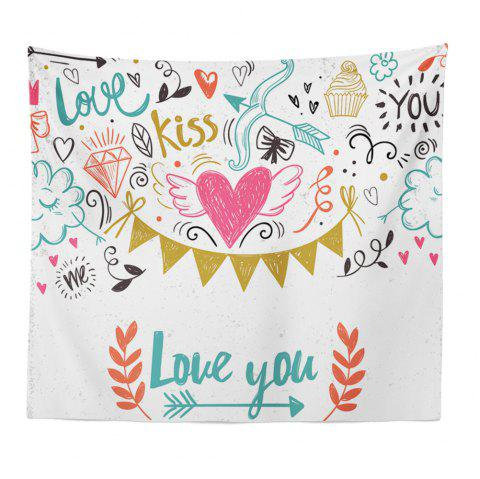Hand-Made Hd Digital Printing Wall Decoration Tapestry Valentine'S Day Decoration - COLORMIX 150X130CM