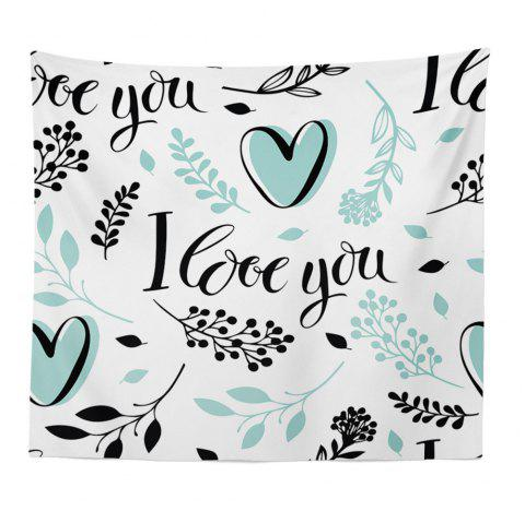 Hand-Made Hd Digital Printing Wall Decoration Tapestry Valentine'S Day Decoration - GREEN 150X130CM