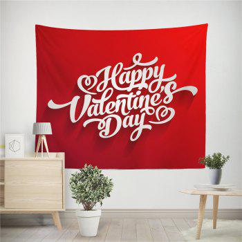 Hand-Made Hd Digital Printing Wall Decoration Tapestry Valentine'S Day Decoration - DEEP RED 200X150CM