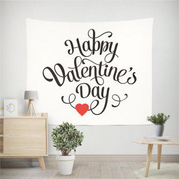 Hand-Made Hd Digital Printing Wall Decoration Tapestry Valentine'S Day Decoration - BLACK/RED 150X130CM