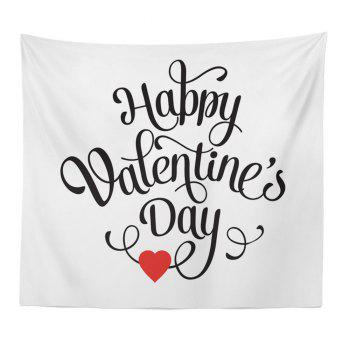 Hand-Made Hd Digital Printing Wall Decoration Tapestry Valentine'S Day Decoration - BLACK AND RED BLACK/RED
