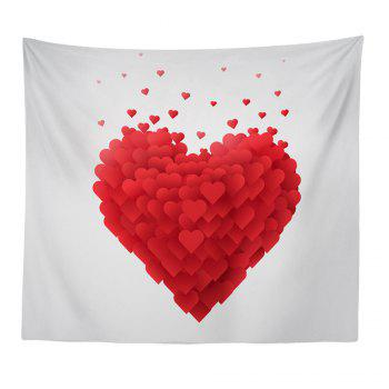 Hand-Made Hd Digital Printing Wall Decoration Tapestry Valentine'S Day Decoration - BRIGHT RED BRIGHT RED