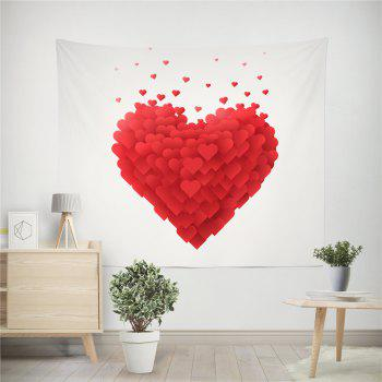 Hand-Made Hd Digital Printing Wall Decoration Tapestry Valentine'S Day Decoration - BRIGHT RED 150X130CM