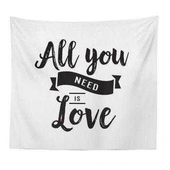 Hand-Made Hd Digital Printing Wall Decoration Tapestry Valentine'S Day Decoration - BLACK WHITE BLACK WHITE