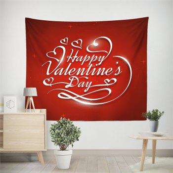 Hand-Made Hd Digital Printing Wall Decoration Tapestry Valentine'S Day Decoration - DARK RED 150X130CM