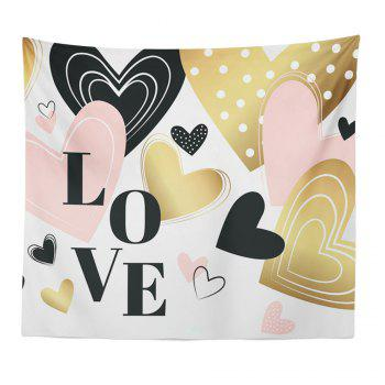 Hand-Made Hd Digital Printing Wall Decoration Tapestry Valentine'S Day Decoration - GOLDEN GOLDEN