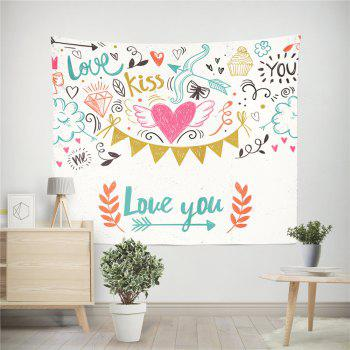 Hand-Made Hd Digital Printing Wall Decoration Tapestry Valentine'S Day Decoration - COLORMIX 150X100CM
