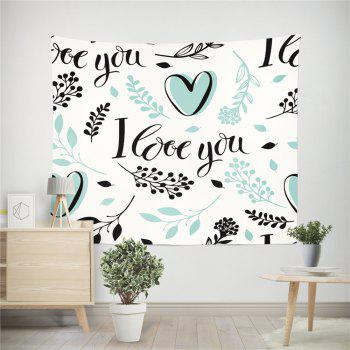 Hand-Made Hd Digital Printing Wall Decoration Tapestry Valentine'S Day Decoration - GREEN 150X100CM