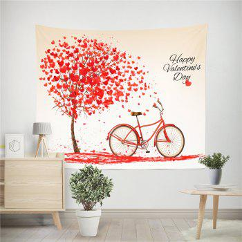 Hand-Made Hd Digital Printing Wall Decoration Tapestry Valentine'S Day Decoration - RED 150X130CM
